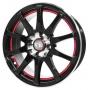 Replica 826 Multi 6.5x15/4x100 D73.1 ET35 -  Тип : литые Цвет : черный+красный Крепежные отверстия : 4 Диаметр центрального отверстия : 73.1 мм
